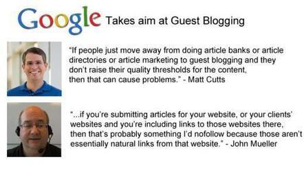 Google on Guest Blogging; be afraid, be very af... | Marketing and Creative Services | Scoop.it