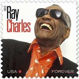 """""""Ray Charles Honored with a Forever Postage Stamp"""" 