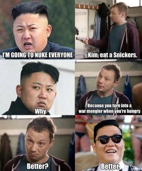 Twitter / imFindDory: North Korea you need a snickers. ... | Wandering Salsero | Scoop.it