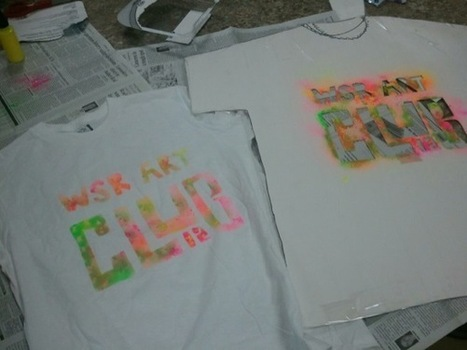 How to Make Stenciled T-Shirts | The Art of Ed | Technology in Art And Education | Scoop.it