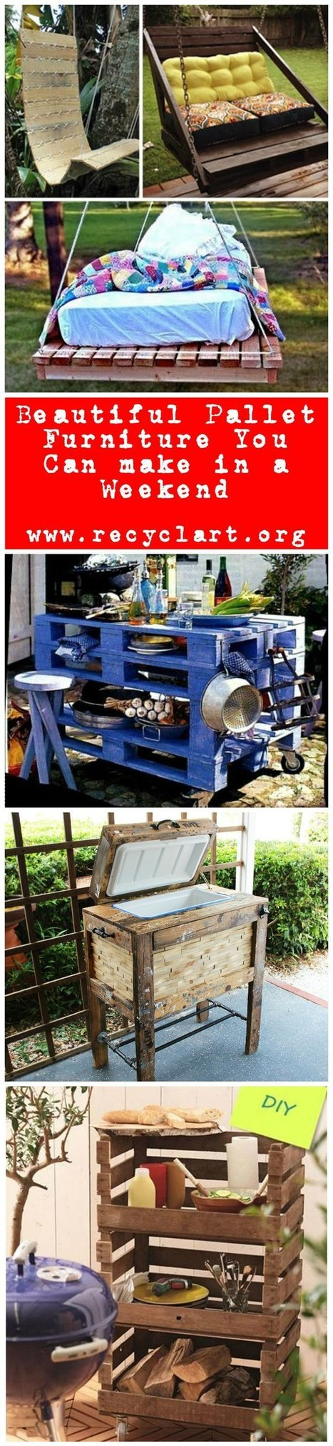 Beautiful Pallet Furniture You Can Materialize in a Weekend   1001 Recycling Ideas !   Scoop.it