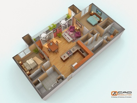 Outsourcing 2D CAD Architecture House Plans Design Services Has Become Mainstream | CAD Resolution | Scoop.it