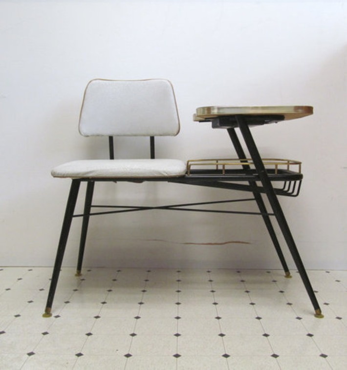 Mid Century Modern Telephone Bench | Antiques & Vintage Collectibles | Scoop.it