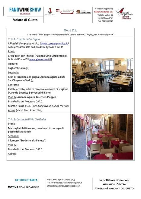 Volare di Gusto, 27 e 28 luglio: gli alberghi e i ristoranti! | The Matteo Rossini Post | Scoop.it