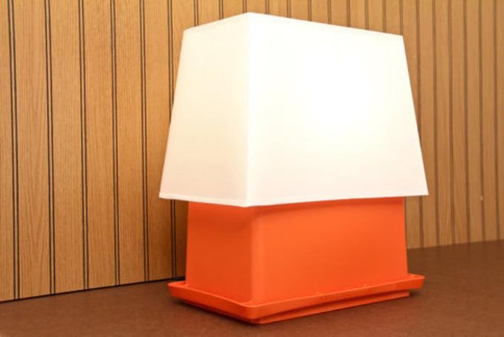 Repurposed Mid Century Burnt Orange Tupperware Craft by Lampified | Kitsch | Scoop.it