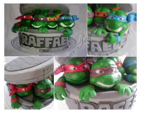 Cake Topper con i Ninja Turtles   Cake Design e Decorazioni Torte   Scoop.it