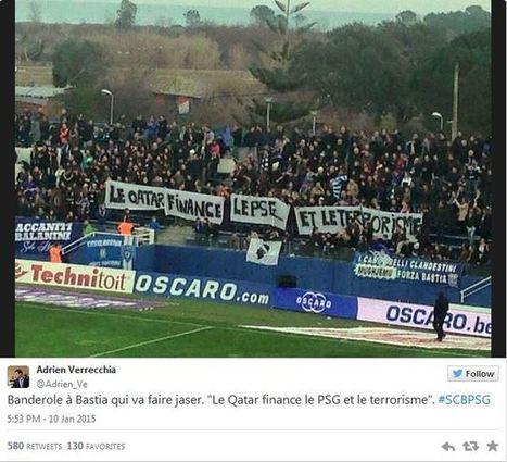 Les supporters bastiais déploient une banderole qui accuse le Qatar de financer le terrorisme   Autres Vérités   Scoop.it
