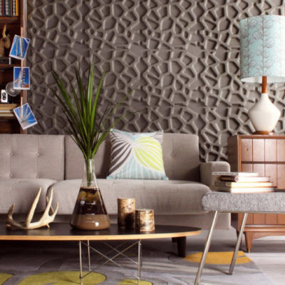 3D Sculptural Surfaces Adds Dramatic Flair To Room | Home & Office Styling | Scoop.it
