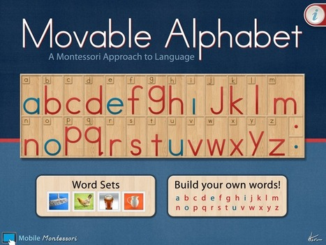 Movable Alphabet by Mobile Montessori | Apps for Children with Special Needs | Scoop.it