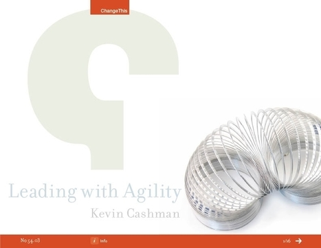 "Classic to New:  Learning Agility is Change Mastery | ""positive organizational scholarship"" 