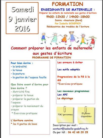 SOS-ECRITURE: Nouvelle formation enseignants dans le Gard, janvier 2016 | Les troubles de l'écriture | Scoop.it