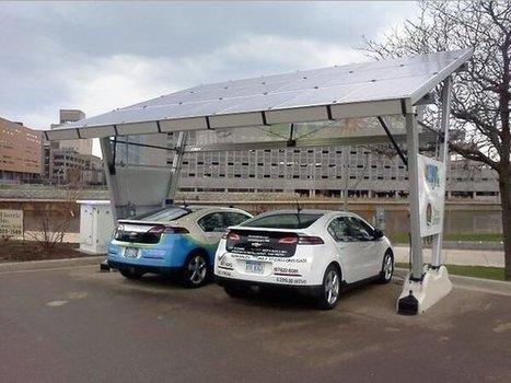 Lansing, MI installs solar EV charging station good for 300,000 emission-free miles | Net Zero USA | Scoop.it