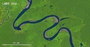 Ucayali river timelapse shows meandering and avulsion, oxbow lake forming | Classroom geography | Scoop.it