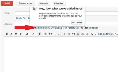ForgetBox, una solución que se integra con Gmail para adjuntar archivos sin límite de tamaño | Recull diari | Scoop.it