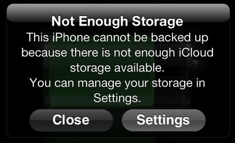 Out of iCloud Storage? Manage Storage to Maximize the Benefits of iCloud | iPad i undervisningen | Scoop.it