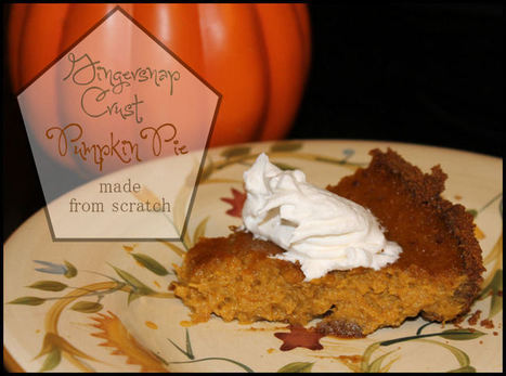 Gingersnap Crust Pumpkin Pie from Scratch - My Personal Accent | Crafts | Scoop.it