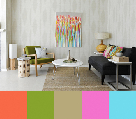 A Good Chick To Know's Clean, Colorful Interiors - Design Milk | Design | Scoop.it