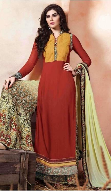 Long Salwar Kameez: Maroon, Embroidered | FH374761986 | fashionheena.com | Scoop.it