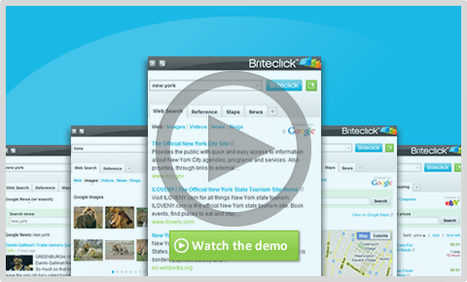 Briteclick - Search faster & smarter without leaving your page. | New Web 2.0 tools for education | Scoop.it