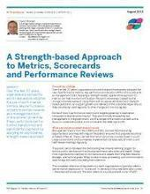 A Strength-based Approach to Metrics, Scorecards and Performance Reviews | Appreciative Inquiry NEWS! | Scoop.it