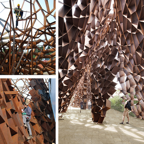 Toti Semerano construct an irregular corten steel wall in salento italy | The Architecture of the City | Scoop.it