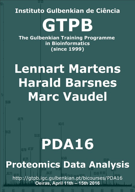 GTPB: PDA16 - Proteomics Data Analysis - Home | Bioinformatics Training | Scoop.it