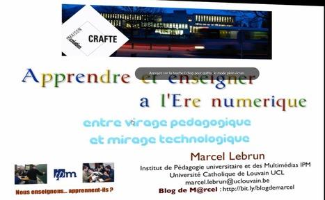 La pédagogie numérique entre mirage technologique et virage pédagogique | Des Sites Web sur les TICE et des outils Tice utiles pour l'enseignant | Scoop.it