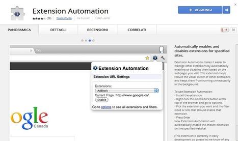 Velocizzare Google Chrome grazie a Extension Automation ... | Social Media: tricks and platforms | Scoop.it