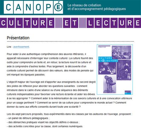 Culture et lecture – (17 parcours) Tisser des liens en littérature     Liseuses, ebook, lecture et education   Scoop.it