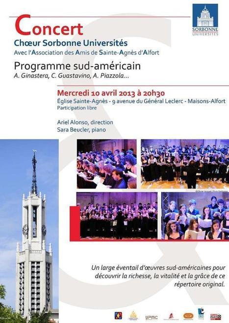 Mercredi 10 avril 2013, concert à l'Eglise Sainte-Agnès   Charentonneau   Scoop.it
