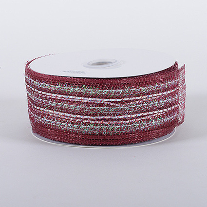 Burgundy Laser Metallic Mesh Ribbon 25 Yards | FuzzyFabric | Scoop.it