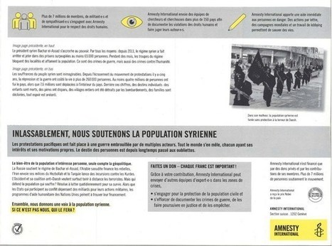 #Syrie : NON, je ne soutiens pas cette campagne révoltante d' #AmnestyInternational - #FaussesONG #ChiensDeGarde | Infos en français | Scoop.it
