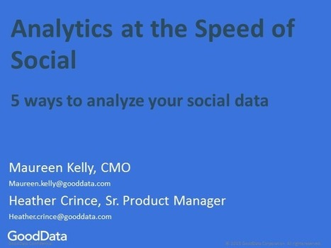 Analytics at the Speed of Social - 5 Ways to Analyze Your Social Data   BrightTALK   Data Science   Scoop.it