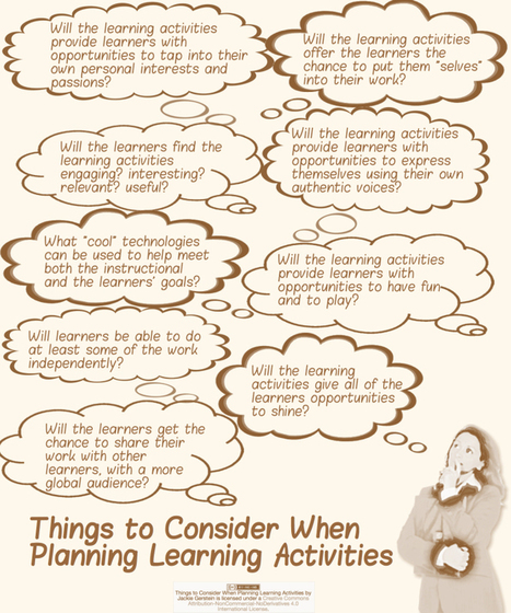 Questions to Ask Oneself While Designing Learning Activities - User Generated Education @jackiegerstein | Diseño instruccional | Scoop.it