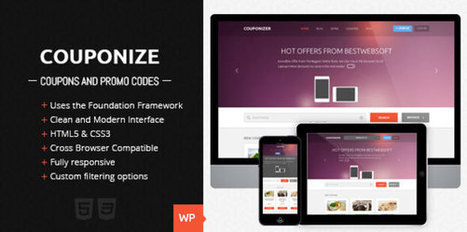 Download Couponize v1.2 - Responsive Coupons and Promo Theme - Slicontrol.Net | Free Download Premium Wordpress Themes and Plugin | Scoop.it