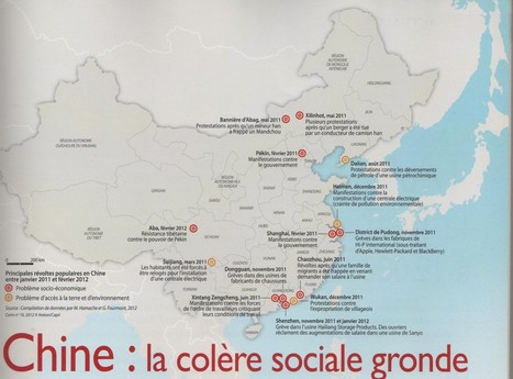 Carte : Conflits sociaux en Chine (Carto) | Ide... | EXPERTISE COMPTABLE DEDIEE AUX CE | Scoop.it