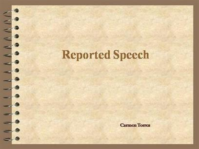 Reported-Speech Ppt Presentation   Teaching English Grammar   Scoop.it