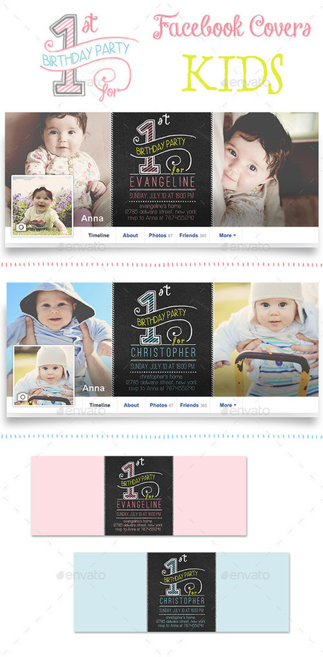 First Birthday Party Facebook Covers | ❤ Social Media Art ❤ | Scoop.it