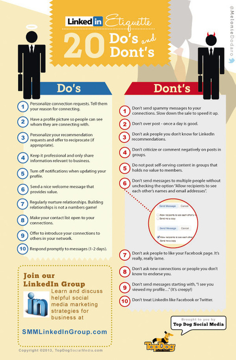 Top 20 Do's and Dont's on LinkedIn - Social Media London | Social Networker | Scoop.it