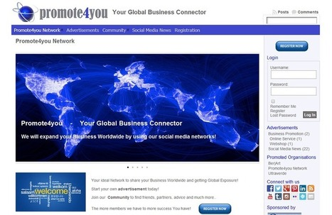 Promote your Organisation Worldwide with Promote4you | Promote4you | Scoop.it