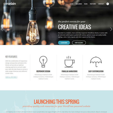 Porcelain WordPress Theme | WordPress Theme Download | Best WordPress Themes 2013 | Scoop.it