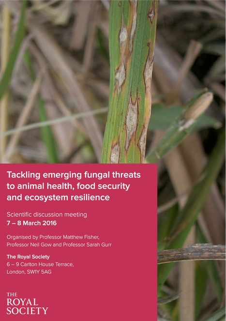 Royal Society: Tackling emerging fungal threats to animal health, food security and ecosystem resilience, March 7-8, 2016 | Plants and Microbes | Scoop.it