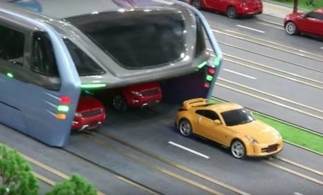 Un bus révolutionnaire qui roule au dessus des embouteillages | Sélections de Rondement Carré sur                                                           la créativité,  l'innovation,                    l'accompagnement  du projet et du changement | Scoop.it