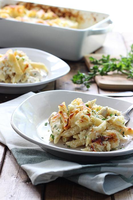 Chicken Alfredo Pasta Bake - The Cooking Jar   Happy Nibbler   Scoop.it