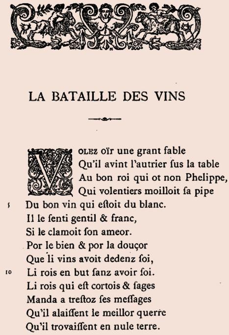 Le premier guide des vins au monde, publié sous forme de poème | Le Vin et + encore | Scoop.it