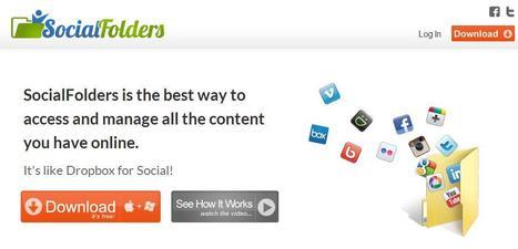 Récupérer ses photos des réseaux sociaux, SocialFolders   Je, tu, il... nous !   Scoop.it