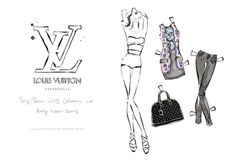 {news} Louis Vuitton Launches Paper Doll Collection | Up Couture Paris www.upcouture.com | Scoop.it