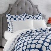 Navy Hollywood Duvet Cover | Blue and White Bedding | Scoop.it