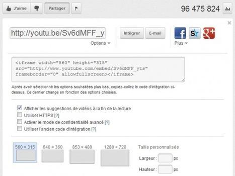 Intégrer une vidéo Youtube en définissant le début et la fin du visionnage   Ressources en médiation numérique   Scoop.it
