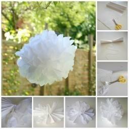 comment faire un pompon en papier de soie / DIY paper pompom | flower dreaming | Scoop.it